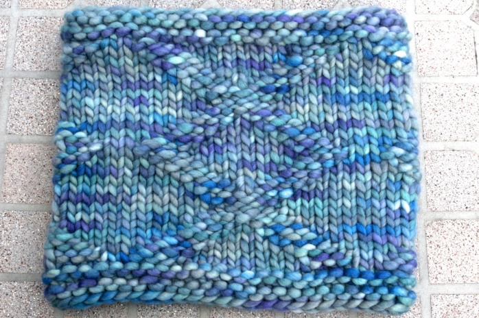 """Inverness Diamonds cowl (super bulky version) knit in JetSetter Super Bulky in """"Highlands"""""""