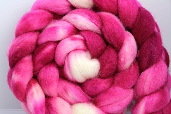 Raspberry on Merino/Silk